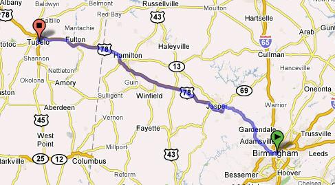 Birmingham to Tupelo141