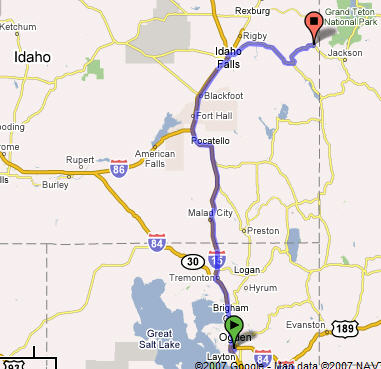 Hill AFB to Victor, ID 252Miles
