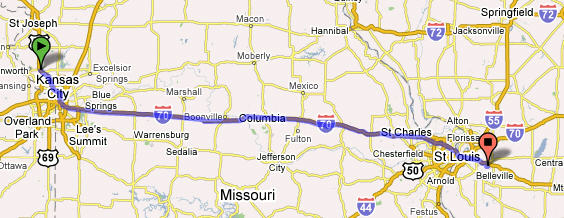 Platte City to Scott AFB ILL